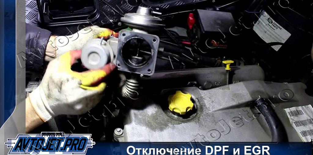 Отключение DPF и EGR
