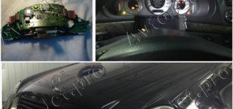 Адаптация панели приборов на автомобиле Mercedec W211 E-класса