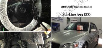 Установка автосигнализации StarLine A93-ECO на автомобиль Lexus IS200