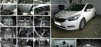 Полная шумоизоляция класса «стандарт плюс» автомобиля Kia Cerato