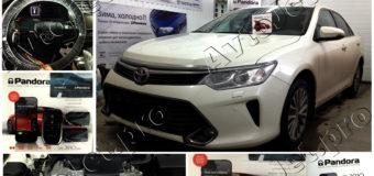 Установка автосигнализации Pandora DXL 3910-PRO и GPS — антенны NAV-035 с сохранением комплекта ключей на автомобиле Toyota Camry 2017 года