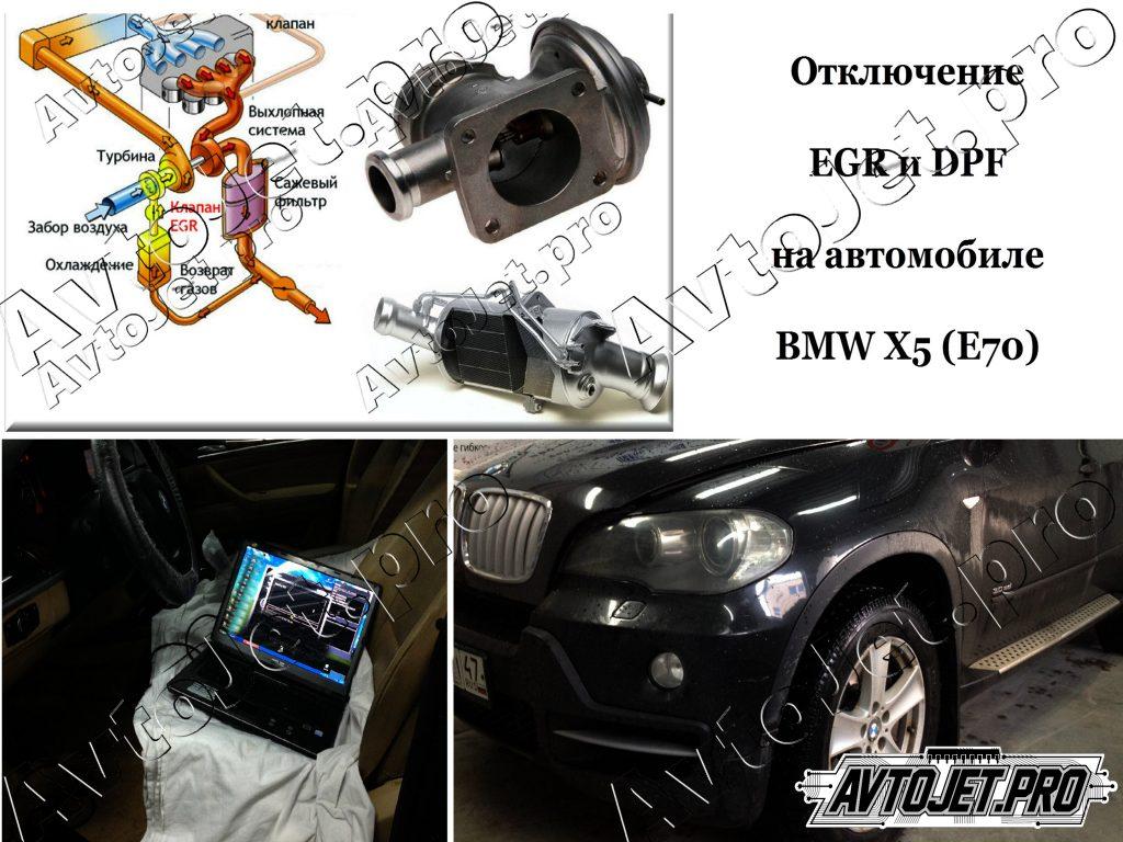 Отключение EGR и DPF_BMW Х5 (Е70)_AvtoJet.pro