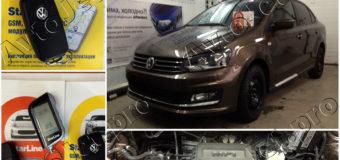 Установка автосигнализации StarLine A93-ECO с GSM на автомобиль Volkswagen Polo
