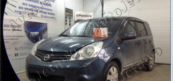 Установка автосигнализации StarLine A93-ECO на автомобиль Nissan Note