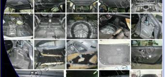 Полная комбо-премиум шумоизоляция автомобиля Kia Rio