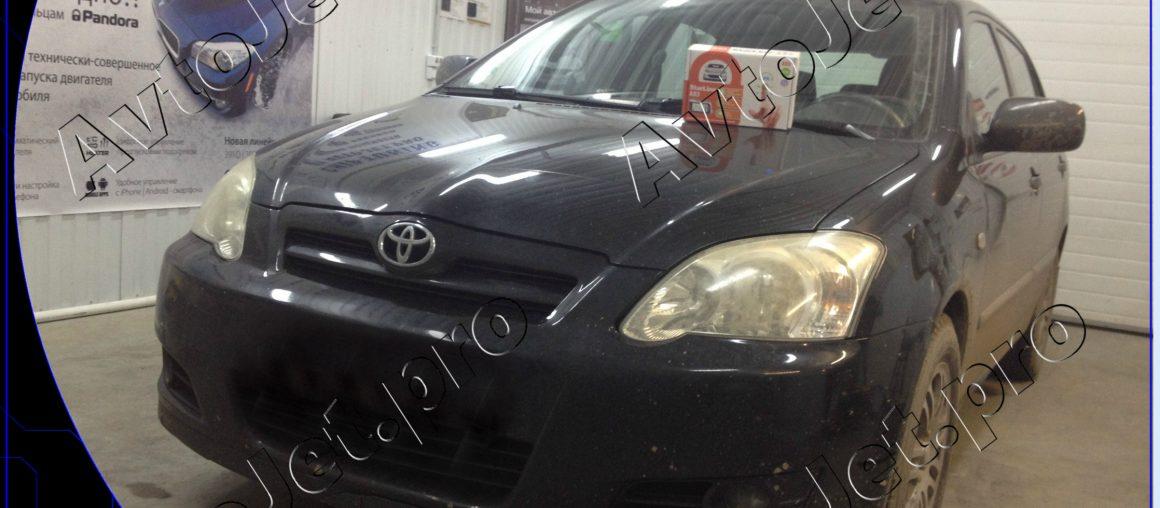Установка автосигнализации StarLine A93-ECO на автомобиль Toyota Corolla
