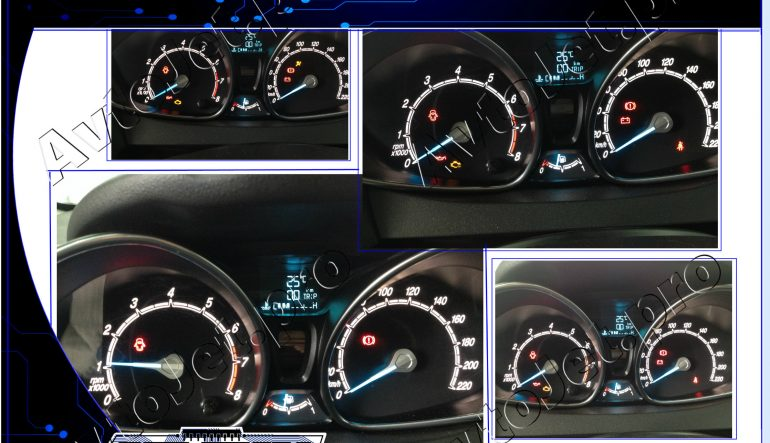 Удаление Crash Data Airbag на автомобиле Ford Fiesta