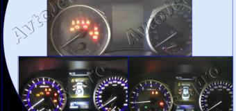 Удаление Crash Data Airbag на автомобиле Infiniti Q50