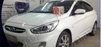Установка автосигнализации StarLine A93-ECO на автомобиль Hyundai Solaris