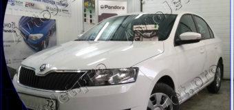 Установка автосигнализации Pandora DXL 3945 Pro на автомобиль Skoda Rapid