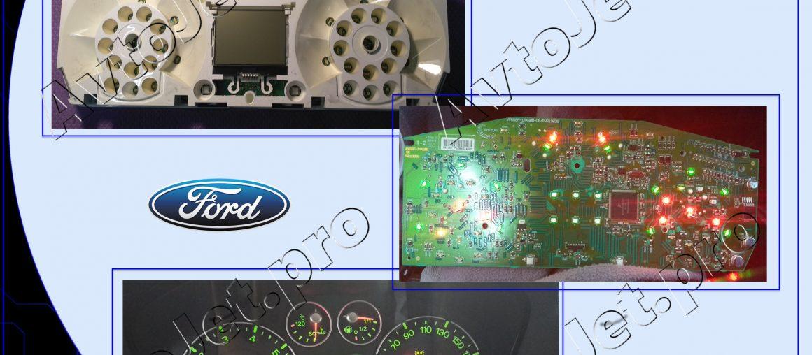 Ремонт приборной панели на автомобиле Ford Fiesta