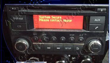 Разблокировка штатной магнитолы на автомобиле Nissan Terrano