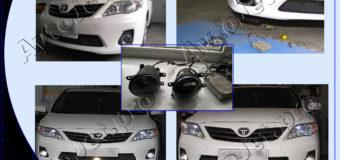 Установка ПТФ Morimoto на автомобиль Toyota Corolla