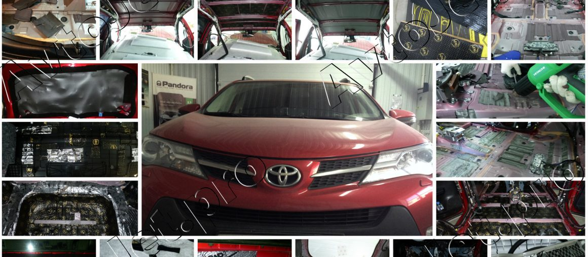 Полная комбо-шумоизоляция автомобиля Toyota RAV-4