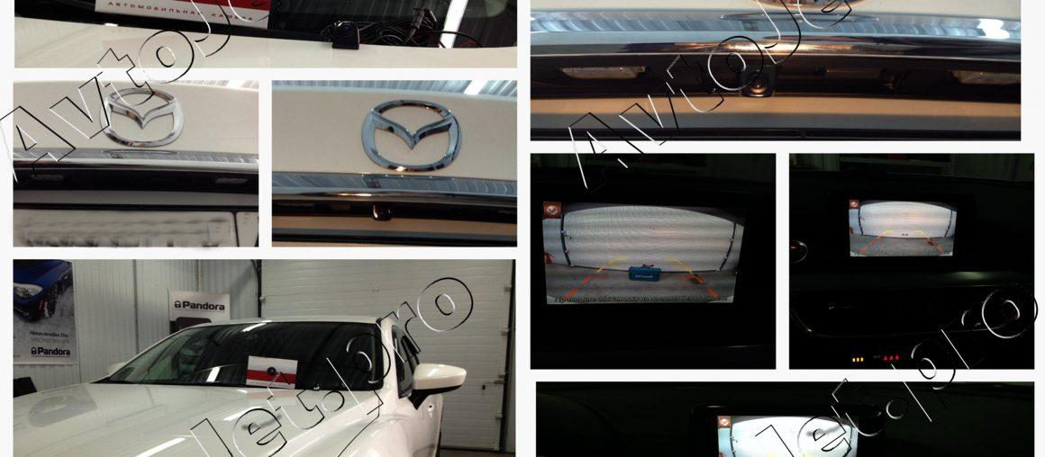 Установка камеры заднего вида на автомобиль Mazda-6.