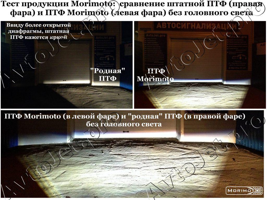 1. Тест продукции Morimoto (ПТФ)_без света_AvtoJet.pro