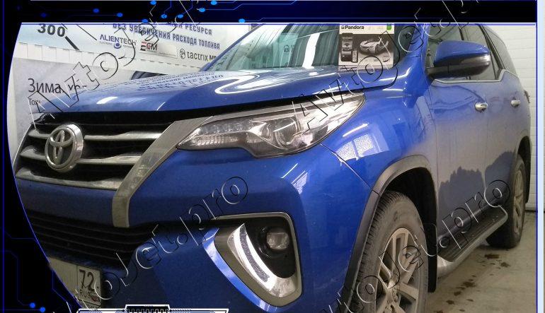 Установка автосигнализации Pandora DXL 3945 Pro на автомобиль Toyota Fortuner