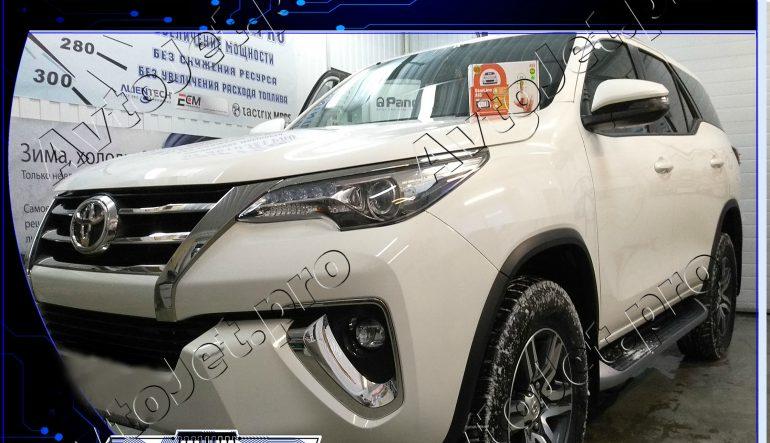 Установка автосигнализации StarLine A93-ECO на автомобиль Toyota Fortuner